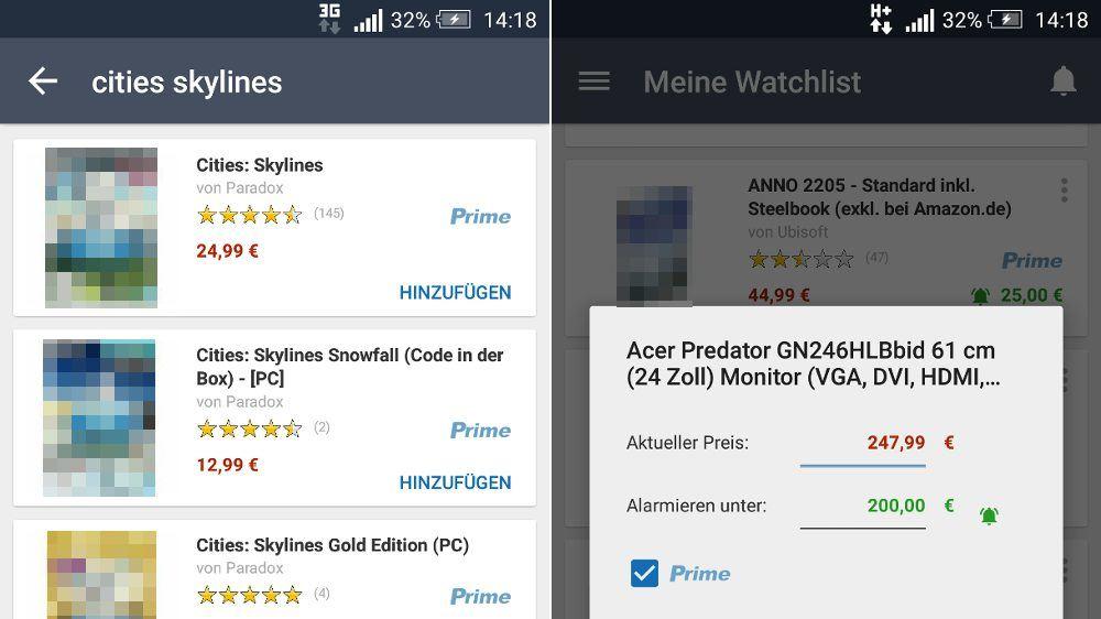 Amazon Preis-Alarm (App)
