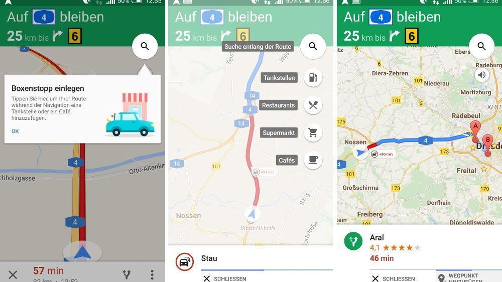 Google Maps: Boxenstops einlegen