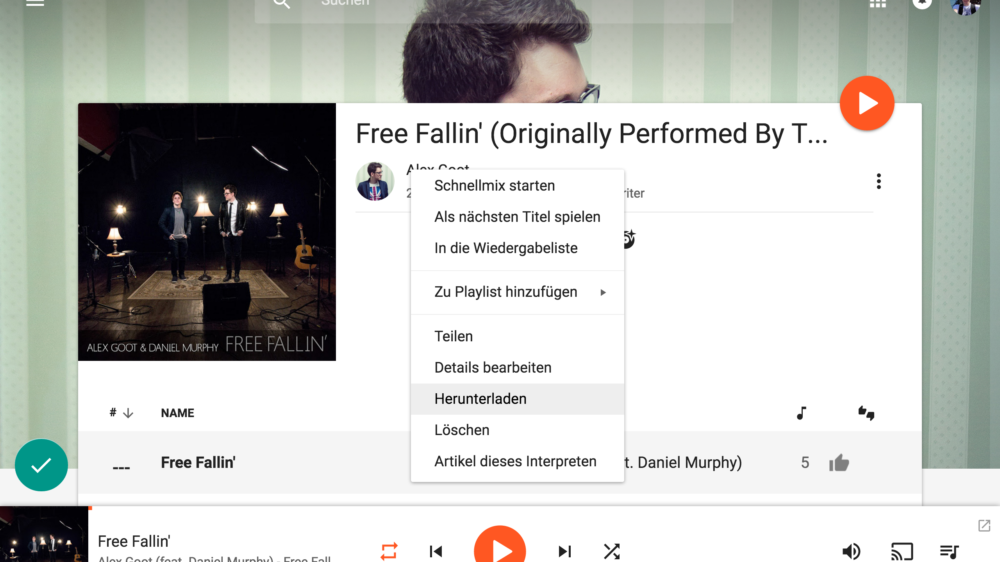 Musik (MP3) in Google Play Music (Web) herunterladen