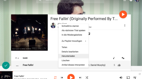 Musik (MP3) in Google Play Music (Web) herunterladen