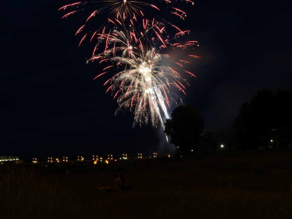 Feuerwerk in Dresden an der Elbe (10. Juni 2016)