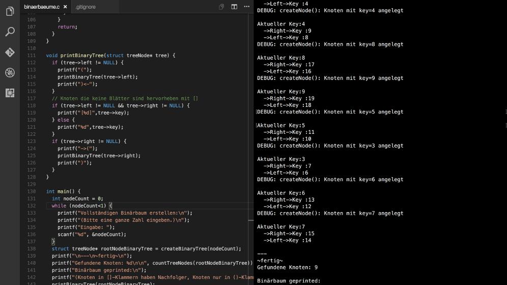 C-Code Binärbäume