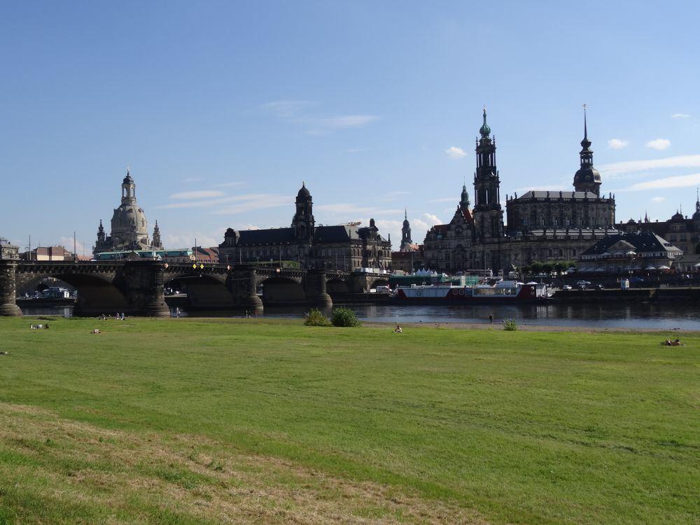 Panorama der Dresdener Altstadt