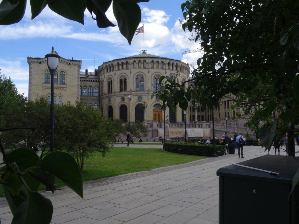 Oslo, Norwegen: Foto vom 01. September 2016 - Parlament