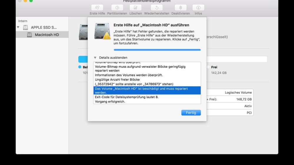 MacOS Dateisystemfehler