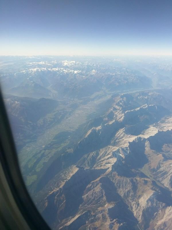 Innsbruck von oben - Rom-Urlaub Oktober 2017