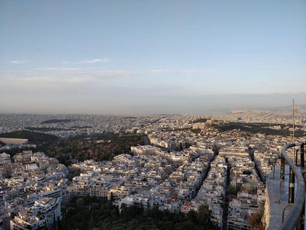Sonnenaufgang in Athen - 27. März 2018