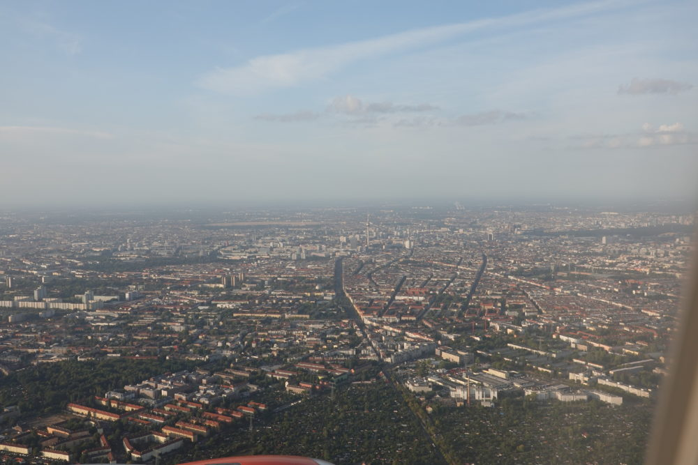 Blick auf Berlin aus dem Flugzeug - 01.09.2018