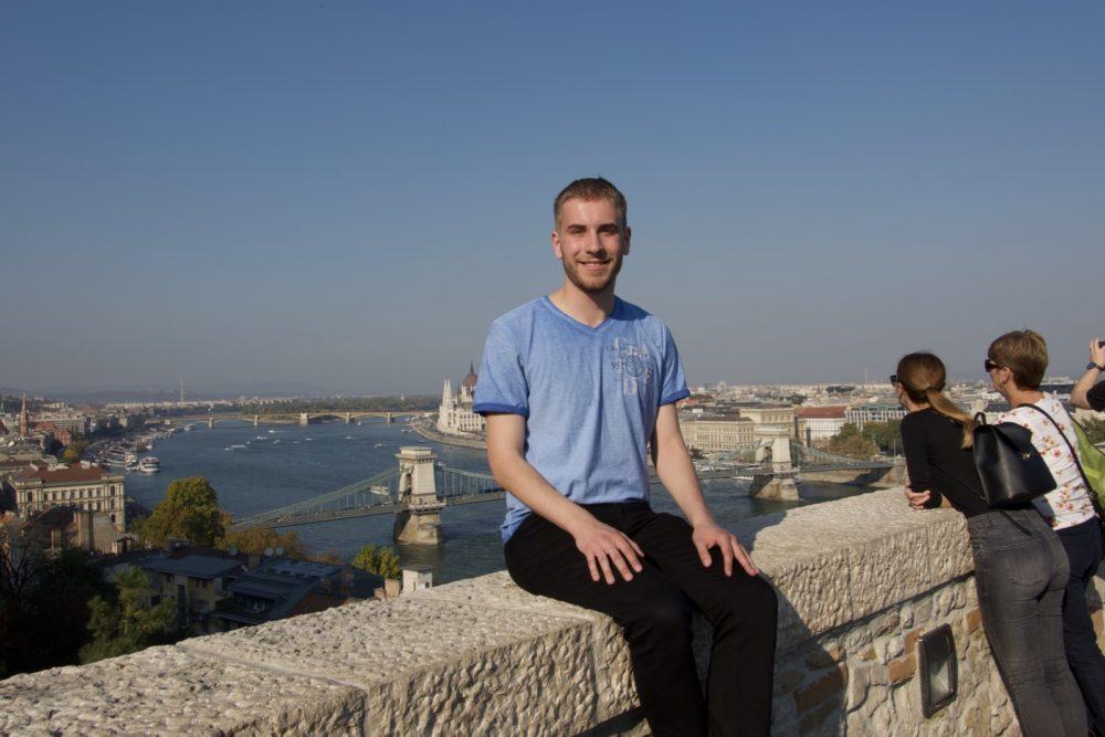 Budapest Oktober 2018 - Ich beim Burgpalast