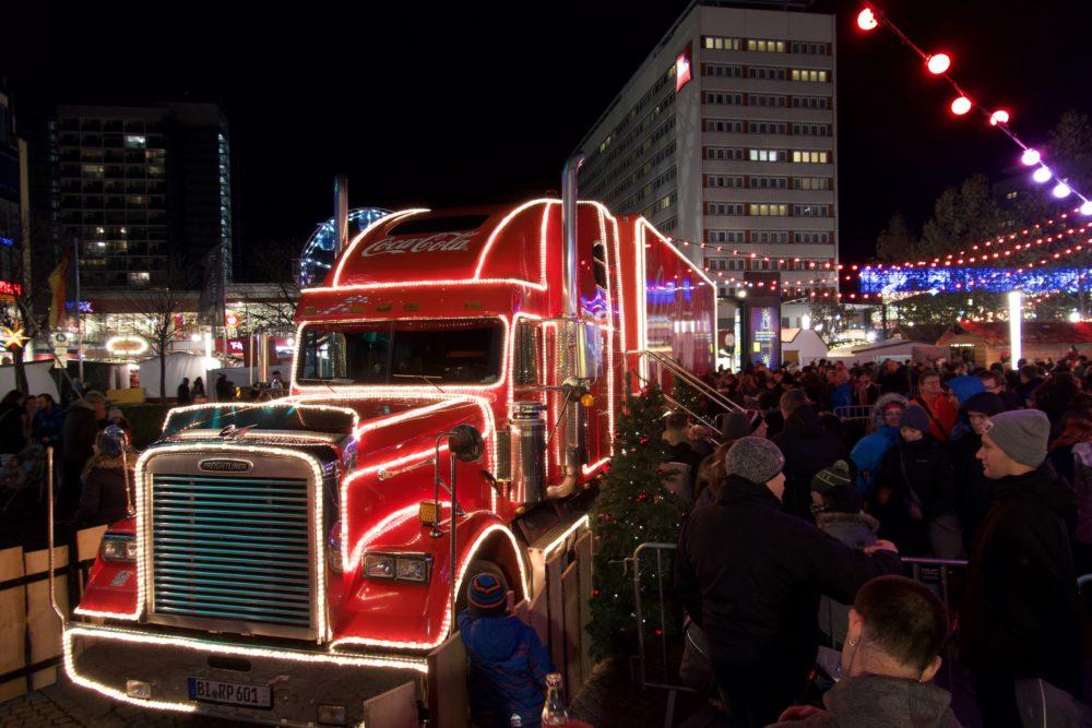 Coca Cola-Weihnachtstruck - Dezember 2018, Dresden