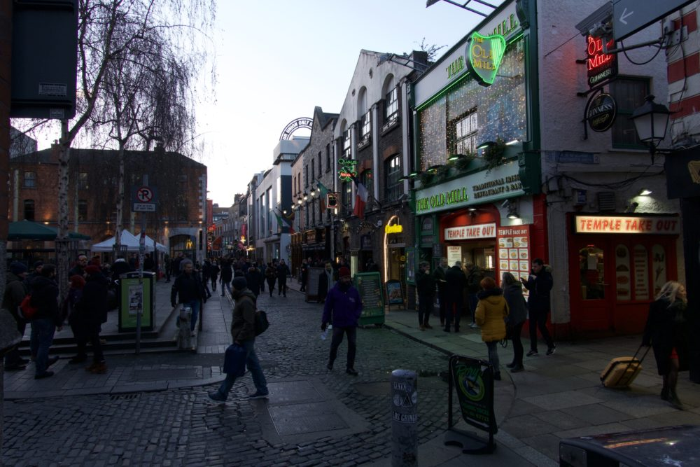 Temple Bar-Viertel in Dublin