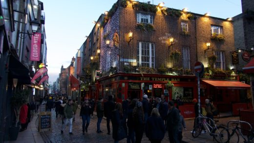 Die Temple Bar im Temple Bar-Viertel in Dublin