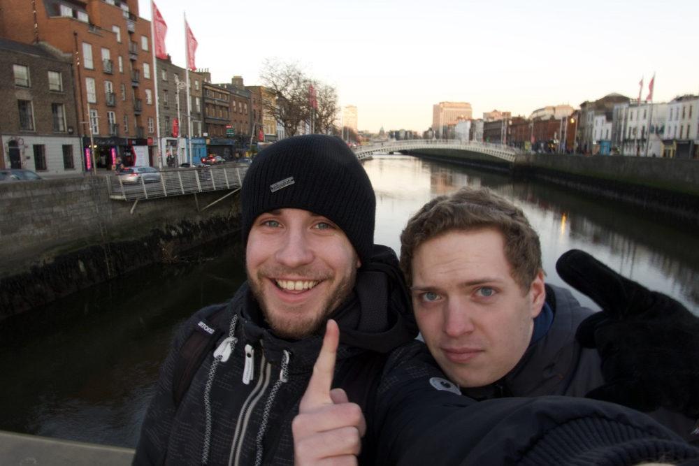 Ich und mein Kumpel Lichtaa in Dublin