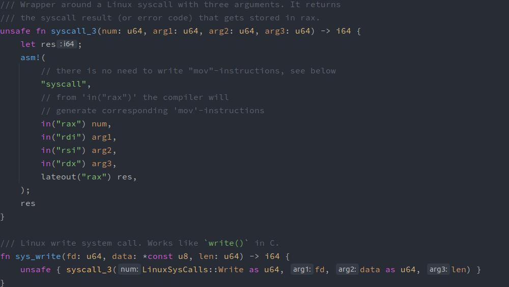 Screenshot of Sourcecode